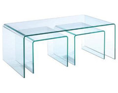 The Magnussen T1595 Lumeno Glass Rectangular Coffee Table provides plenty of eas modern coffee tables