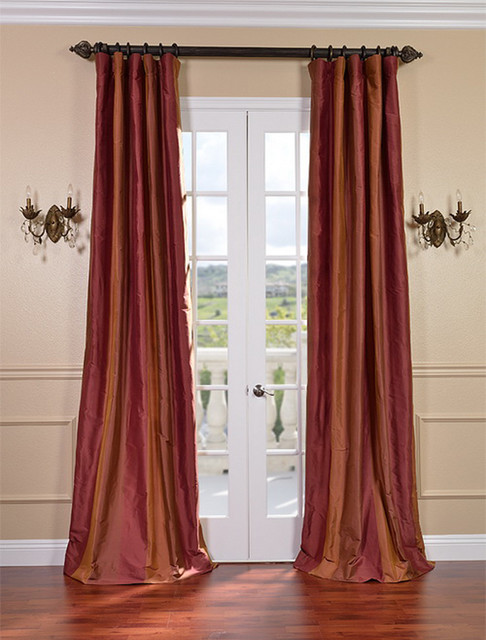 Woodbury Taffeta Silk Stripe Curtains Amp Drapes