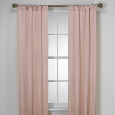 Madison Pink Satin Window Panels Modern Curtains By Bed Bath Beyond