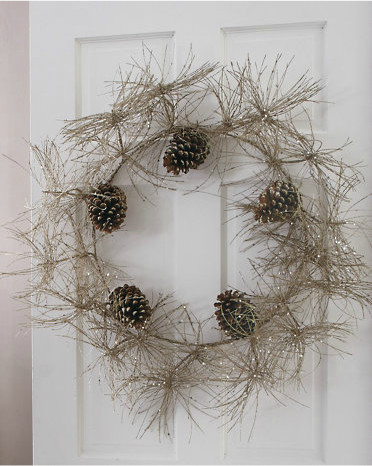 Sparkle Pinecone Wreath contemporary holiday outdoor decorations