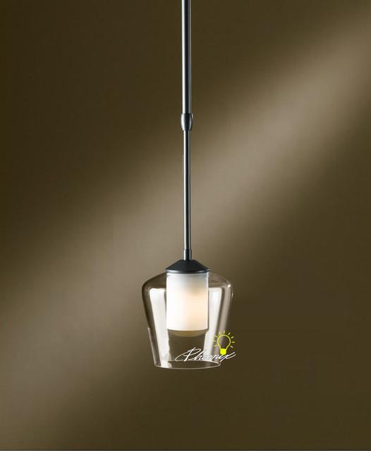 Single Head Glass And Iron Material Pendant Lighting