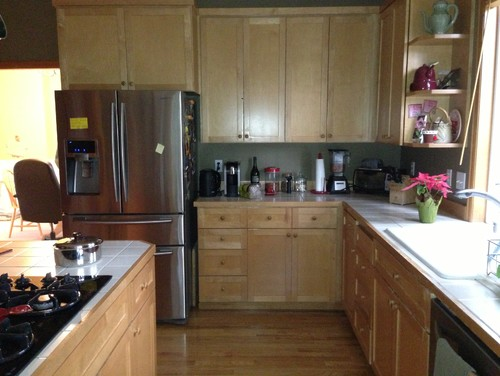 Dark stained floors vs dark stained cabinets for kitchen?