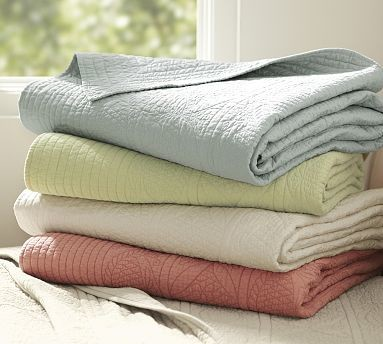 Hanna Wholecloth Quilted Sham, Standard, Porcelain Blue traditional-pillowcases-and-shams