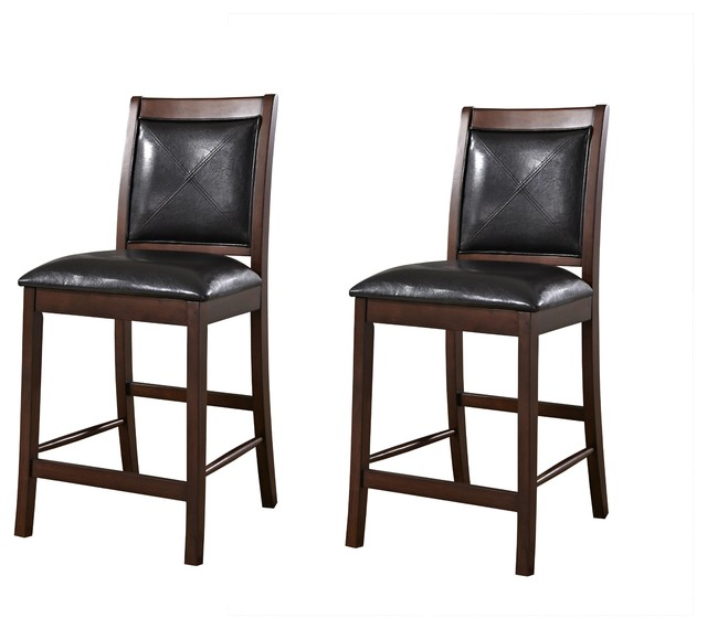 American Heritage Devera Counter Height Dining Chair (Set of 2) traditional-dining-chair-cushions