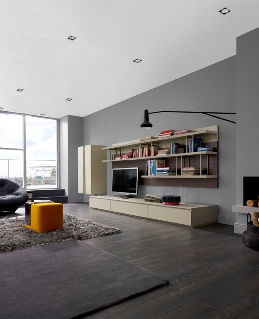 cabinetry mixte modern family room new york by. Black Bedroom Furniture Sets. Home Design Ideas