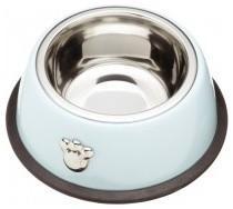 Paw Print Noshers Blue Pet Bowl contemporary-pet-supplies