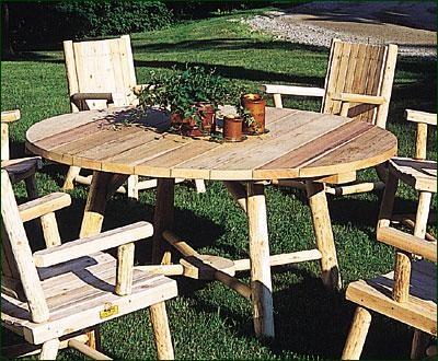 King Arthur Table modern-outdoor-tables