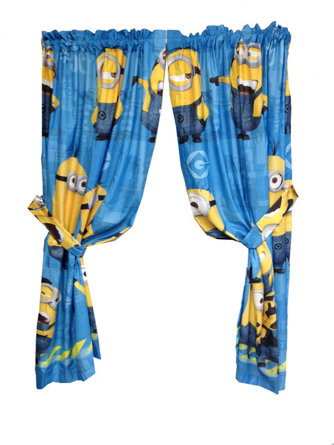 Despicable Me Drapes Minions Testing 123 Window Curtains