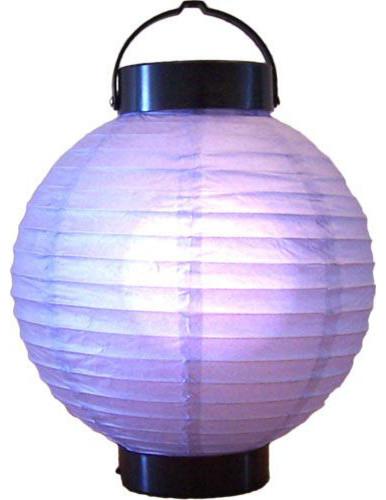 "8"" Purple Glowing Lantern asian-table-lamps"