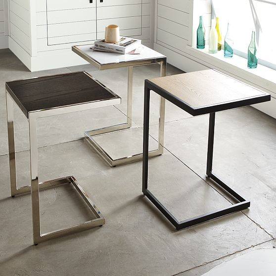 Framed side table modern side tables and end tables Modern side table