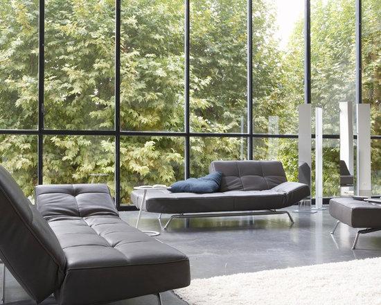Smala - Ligne Roset - Smala sofa bed, Sam floor lamp.