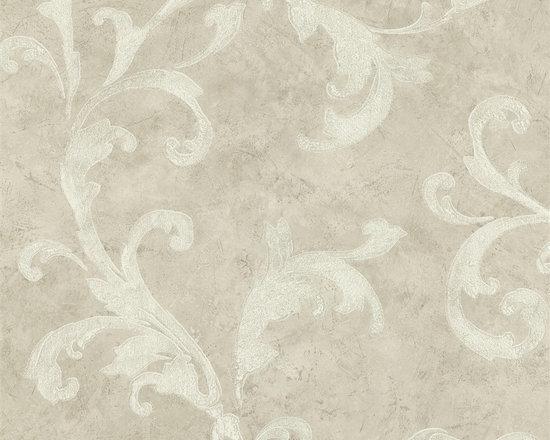 Bainbridge Arabesque Wallpaper in Cream - Bainbridge Wallpaper Collection from AmericanBlinds.com
