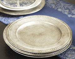 Gilt Charger, Silver traditional-serveware