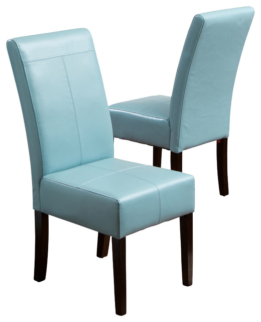 Emilia fabric dining chair set of 2 teal contemporary for Contemporary fabric dining chairs