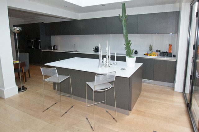 Grey Kitchen island - Modern - other metro - by LWK Kitchens London