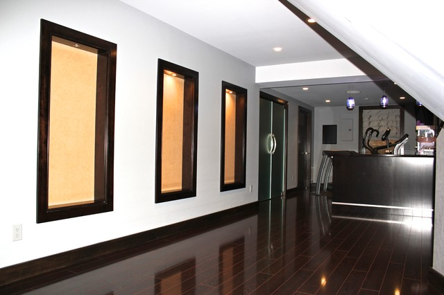 Basement Renovation with Media Room. Syosset, NY modern