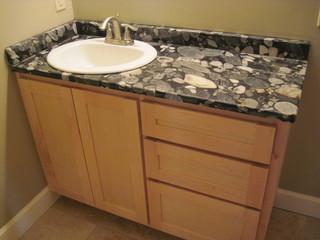Funky granite sink is now in what do you think for Funky bathroom vanities