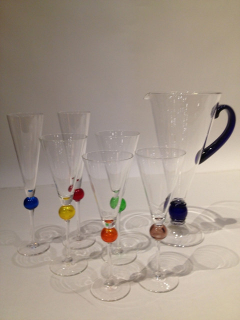 Murano Custom and Stem Glass Set - 3 sets of 6 contemporary-home-decor