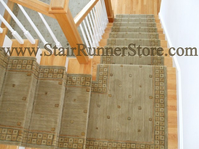 Contemporary Stair Carpet : Contemporary Stair Runner - Contemporary - Staircase - new york - by ...