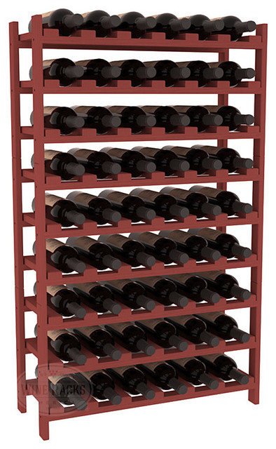 54 Bottle Stackable Wine Rack in Ponderosa Pine, Cherry Stain contemporary-wine-racks