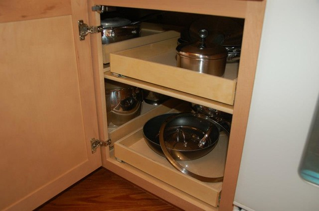 Pull Out Shelves - Blind Corner Solution - louisville - by ShelfGenie ...