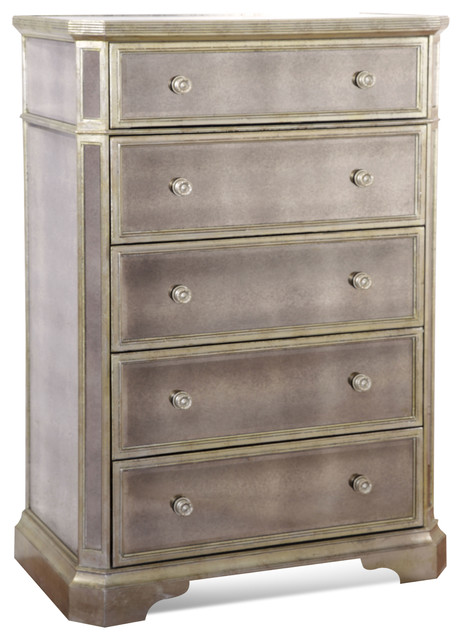 Borghese Tall Mirrored Chest - Traditional - Dressers - by Carolina Rustica