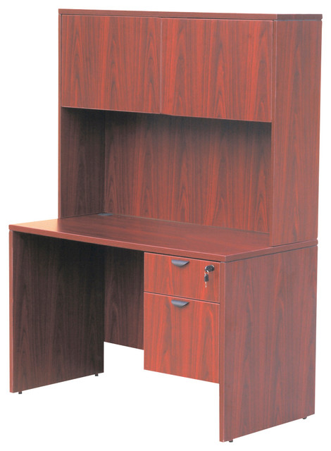boss chairs boss 48 inch desk with hutch in cherry
