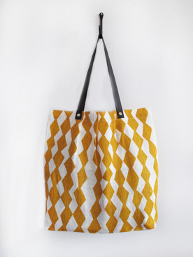 Trapp Simple Tote, Mustard modern accessories and decor