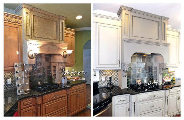 Grey Painted Kitchen Cabinets  Traditional  nashville  by Bella