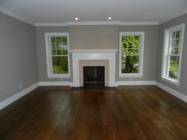 Bryn Mawr, New construction traditional living room