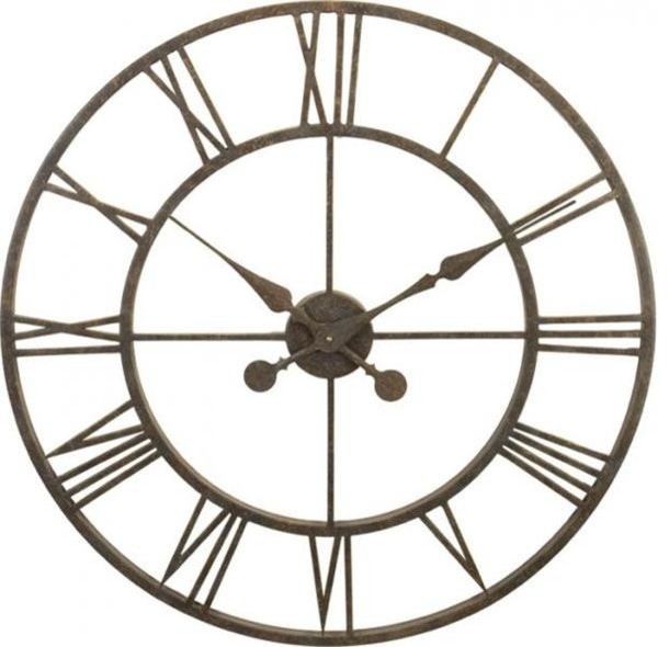 River city clocks metal skeleton tower clock large wall Oversized metal wall clocks