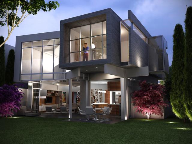 Contemporary exterior elevations joy studio design for Modern house exterior elevation designs