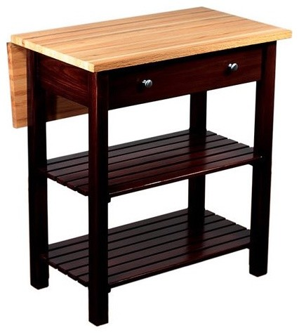 Sandy Creek Kitchen Island with Drop Leaf - contemporary - kitchen