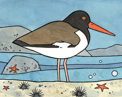 American Oystercatcher - Shore bird print eclectic artwork