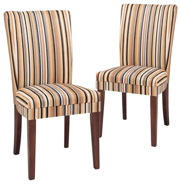 Razz Print Parsons Dining Chair - Set of 2 contemporary-dining-chairs