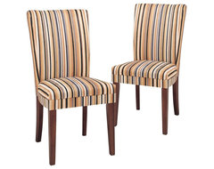 Eye-catching and inviting this Razz Print Parsons Dining Chair - Set of 2 gives contemporary dining chairs and benches