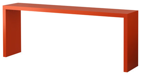 Malm Occasional Table Orange Scandinavian Side Tables