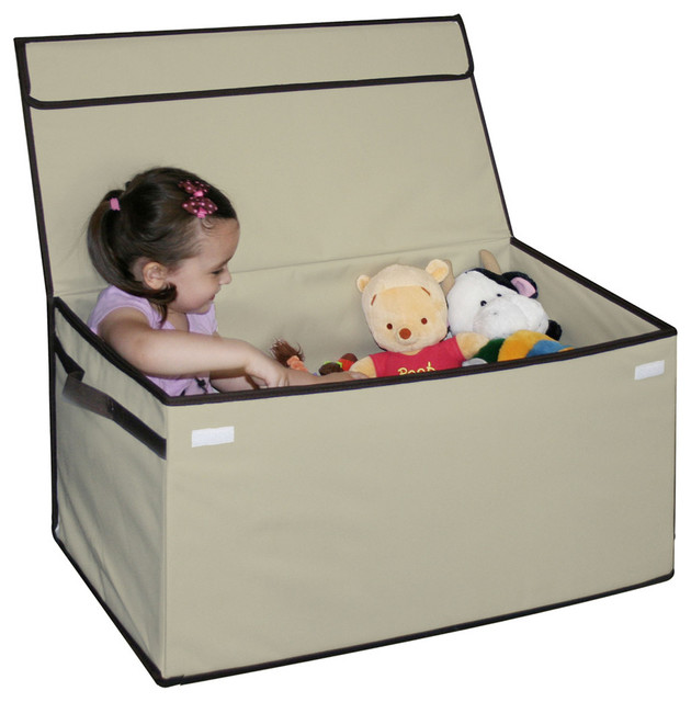 Kids Collapsible Ottoman Toy Books Box Storage Seat Chest: Collapsible Toy Chest