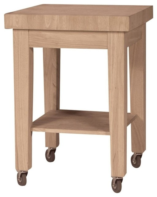 solid wood unfinished kitchen island contemporary
