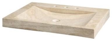 Xylem SVT300 Stone Vanity Top with Integrated Bowl modern-bathroom-sinks