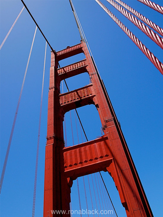 Golden Gate Tower Art Print by Rona Black -