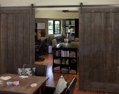 Portola Valley residence rustic-home-office