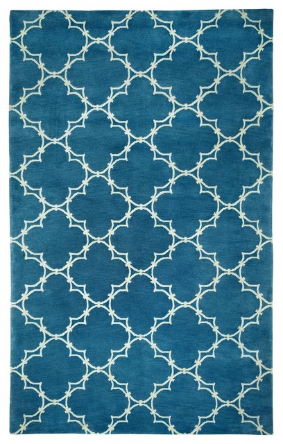Contemporary yale 5 39 x8 39 rectangle bright blue area rug for Bright blue area rug