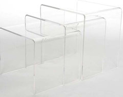 Acrylic Nesting End Tables modern-side-tables-and-accent-tables