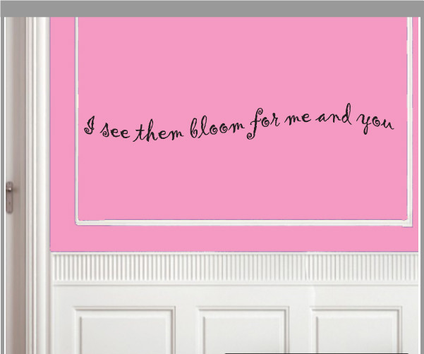 I see them bloom... Vinyl Wall Decal gardeningroomquotes02, Brown, 18 in. contemporary-wall-decals