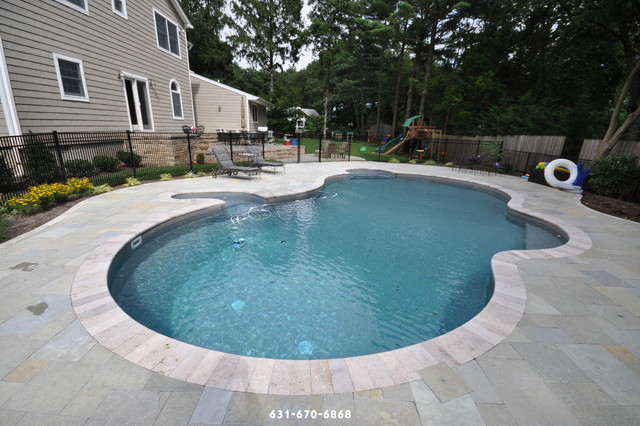 Blue Stone Pool Patio Brentwood Ny 11717 Long Island Traditional New York By Paving