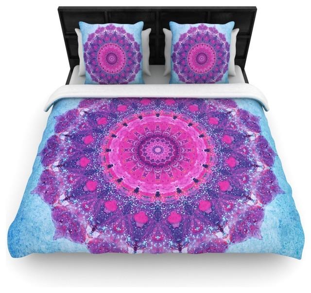 Iris Lehnhardt quotGrunge Mandalaquot Purple Blue Cotton Duvet Cover King