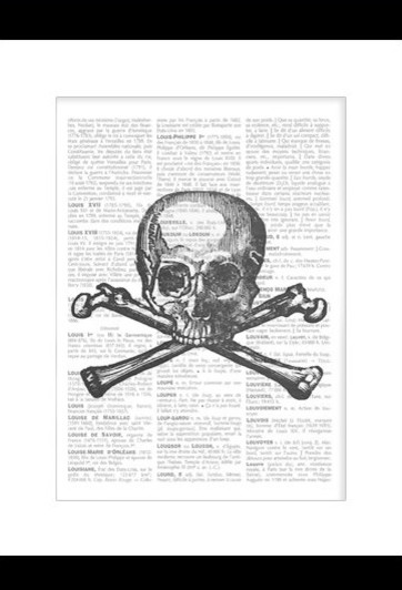 Deaths Head Poster by Noemie French Gallery modern artwork