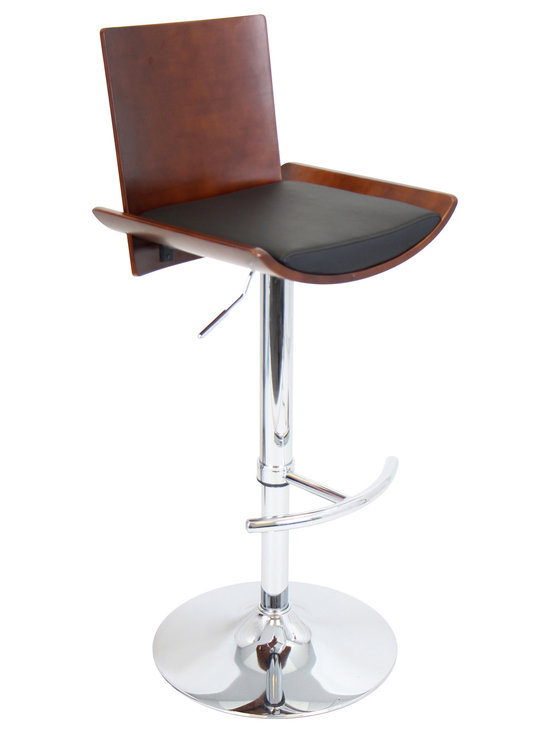 Vittorio Bar Stool - CHERRY/BLACK
