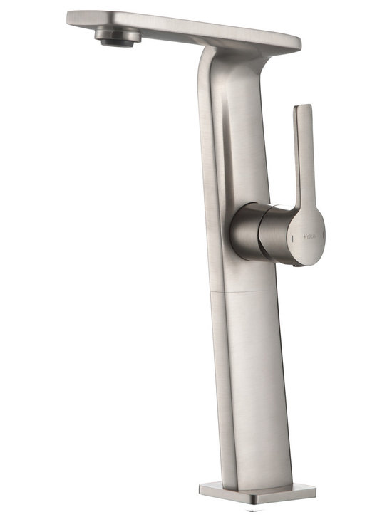 Kraus - Kraus KEF-15400BN Novus Single Lever Vessel Bathroom Faucet Brushed Nickel - Give your bathroom a style upgrade with the Novus single lever